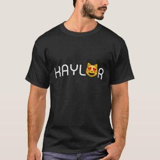Camiseta Kaylor eu acredito os olhos Emoji do coração do