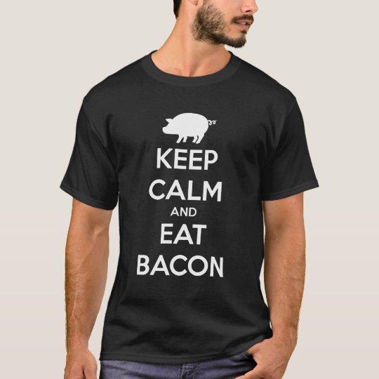 CAMISETA KEEP CALM AND EAT BACON