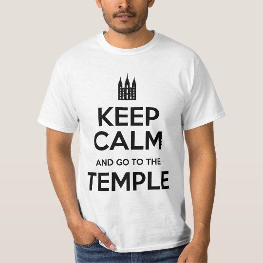 Camiseta Keep calm and Go to the temple