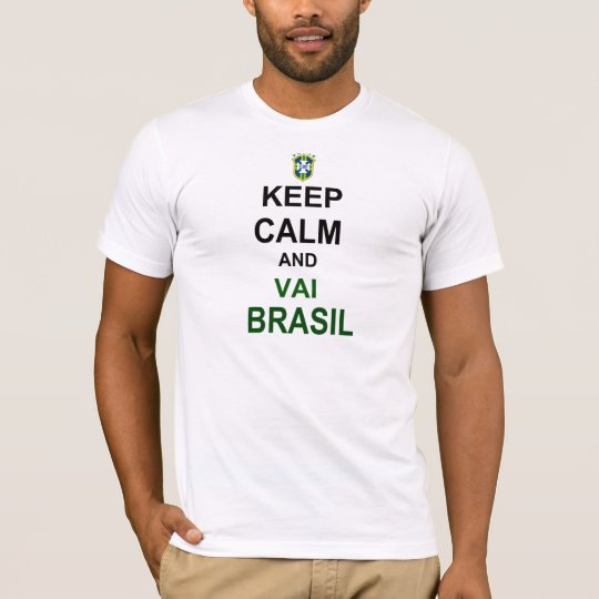 Camiseta Keep calm vai Brasil