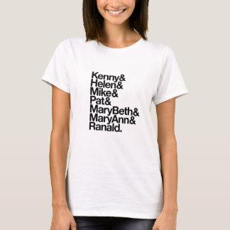 Camiseta Kenny&Helen&Mike&Pat&MB&MA&Ranald. (o branco das