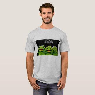 Camiseta kermit ouve-se/para falar/não se considera nenhum