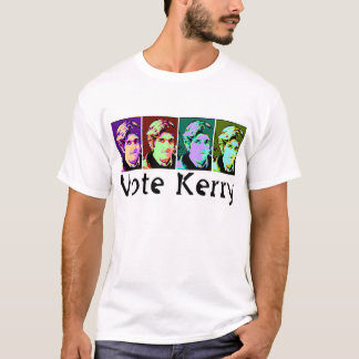 Camiseta Kerry do voto do pop art