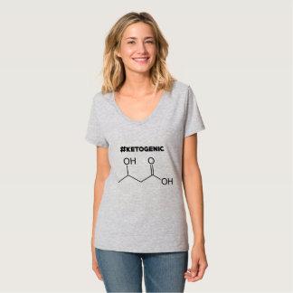 Camiseta #Ketogenic com molécula da cetona