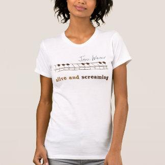 Camiseta keys001-Alive e gritar - personalizado
