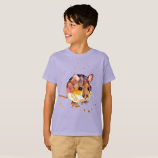 Camiseta kinder shirt com rato