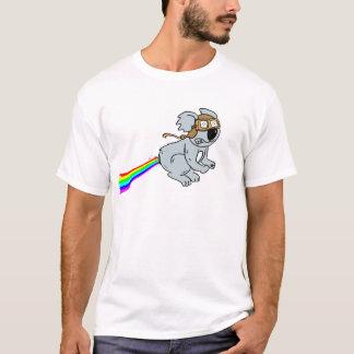 Camiseta Koala com arco-íris