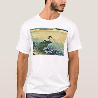 Camiseta Koshu kajikazawa por Katsushika, Hokusai Ukiyoe
