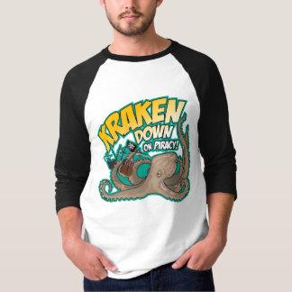 Camiseta Kraken para baixo na pirataria
