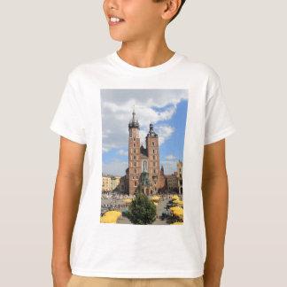 Camiseta Krakow, igreja de Mariacki, a igreja de St Mary,