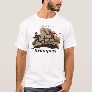 Camiseta Krampus persegue o miúdo