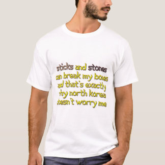 Camiseta Krazy Kim - varas e pedras da Coreia do Norte