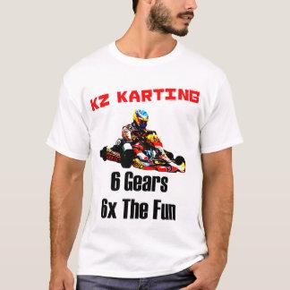 Camiseta KZ Karting - 6 engrenagens 6x o divertimento