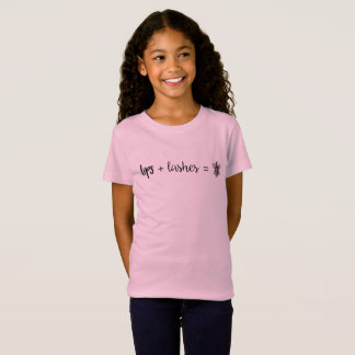 Camiseta Lábios + Chicotes = gráfico social da borboleta