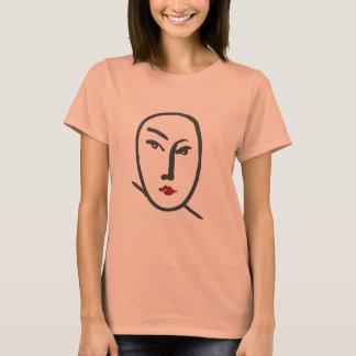 Camiseta Lábios da cara & do vermelho