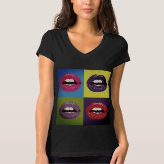 Camiseta Lábios do pop art