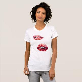 Camiseta lábios dos lábios