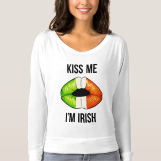 Camiseta Lábios irlandeses - preto