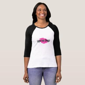 Camiseta Lábios para o t-shirt do basebol de Dayz