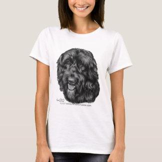 Camiseta Labradoodle preto