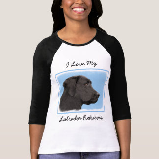 Camiseta Labrador retriever (preto)