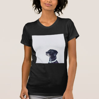 Camiseta Labrador retriever preto customizável