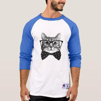 Camiseta laço do gato - gato dos vidros - gato de vidro