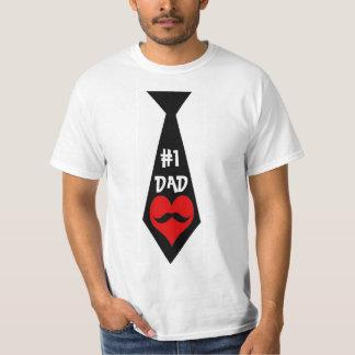 Camiseta Laço do pai #1, bigode & Tshirt do impressão do