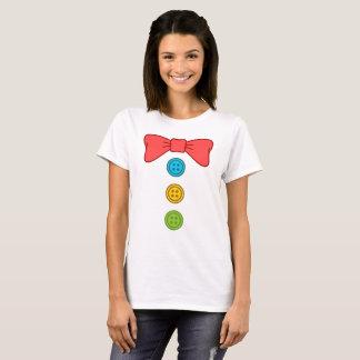 Camiseta Laço e botões do traje do palhaço do Dia das