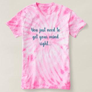 Camiseta Laço-tintura cor-de-rosa das senhoras populares