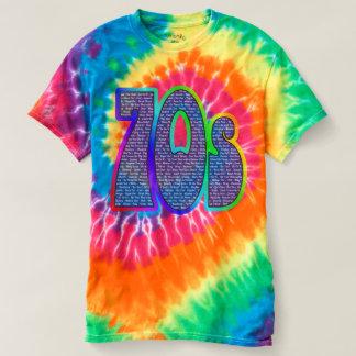 Camiseta Laço-tintura do slogan 70s!
