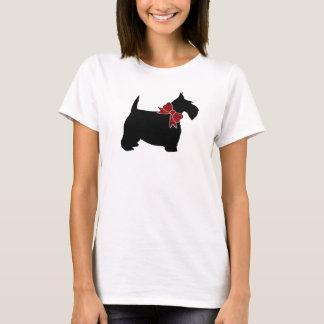 Camiseta Laço vermelho de Paisley do Scottie preto