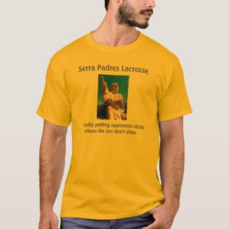 Camiseta Lacrosse. dos padres de Serra