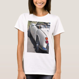 Camiseta Lado esquerdo de um carro clássico britânico velho
