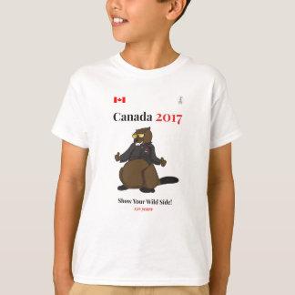 Camiseta Lado selvagem legal de Canadá 150 em 2017