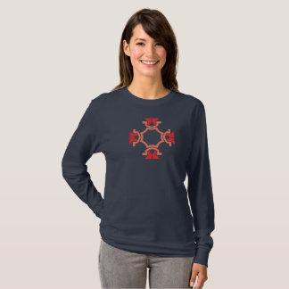 Camiseta Lados do vermelho quatro