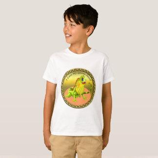 Camiseta Lagarto feliz da iguana da natureza do verde