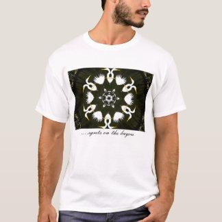 Camiseta lago da cisne, ..... egrets na albufeira