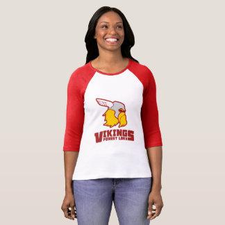Camiseta Lago Viquingues forest - Raglan das senhoras