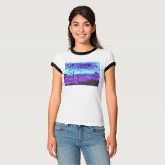 Camiseta Lagoa azul: Aguarela digitada