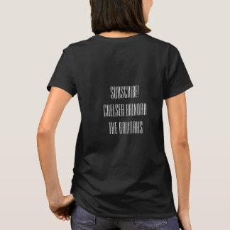 Camiseta Laidies, meio, T básico, preto, CHELSEA BALNOAH