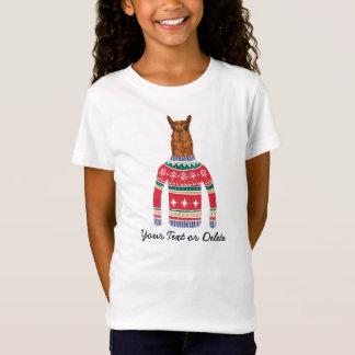 Camiseta Lama bonito que veste a camisola feia engraçada do