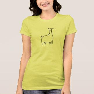 Camiseta Lama de Llove Dianteiro-n-Para trás