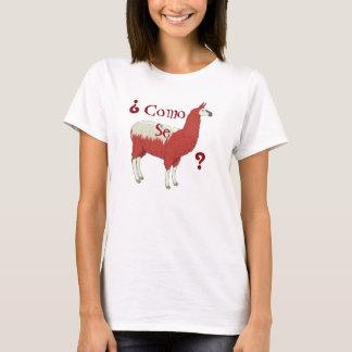 Camiseta Lama do SE de Como do ¿? T da forma com imagem do