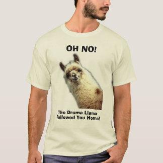 Camiseta lama, OH NÃO! , o lama do drama, seguido lhe Home!