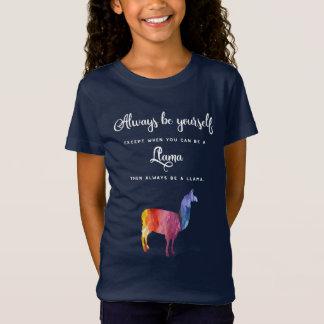 Camiseta Lama. Seja sempre você mesmo exceto… a aguarela