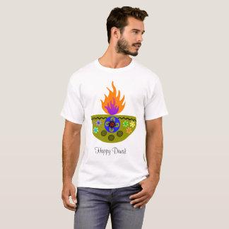 Camiseta Lâmpada colorida Diya de Diwali