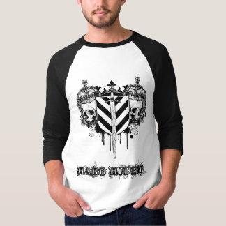 Camiseta Lançador duro caído 3/4 de jérsei do Raglan