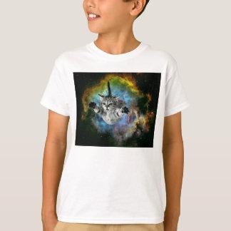 Camiseta Lançamento do gatinho do universo do gato da