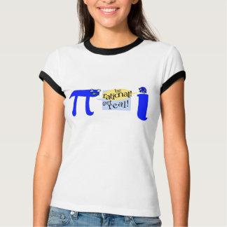 Camiseta Lance do Pi e do número imaginário para baixo